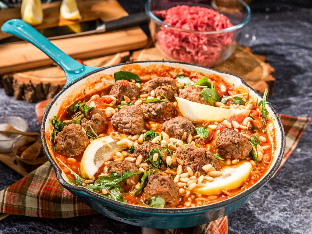 Fennel Pork Meatballs in Tomato Sauce