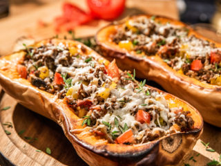 Ground Beef Stuffed Squash