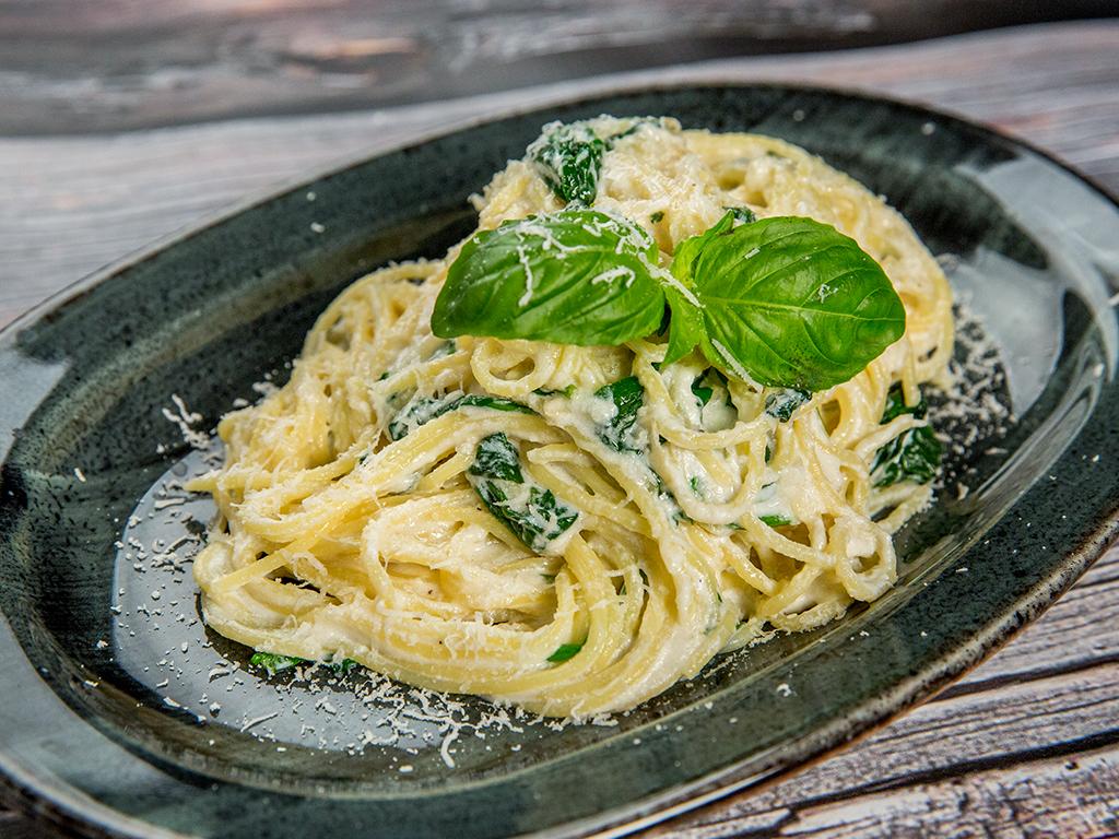 Ricotta and Spinach Spaghetti