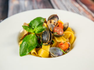 Chorizo and Vongole Pappardelle