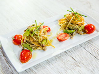 Sardine and Cherry Tomato Spaghetti