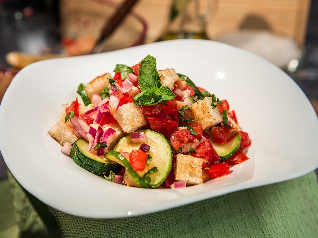 Zucchini and Tomato Panzanella