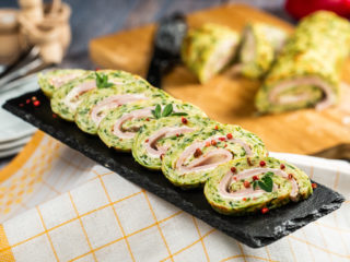 Zucchini, Ham and Cheese Roll