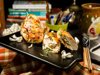 Mushroom-Stuffed Chicken Breast