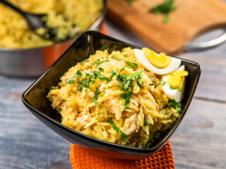 Basmati Rice with Smoked Trout