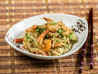 Shrimp and Avocado Noodles