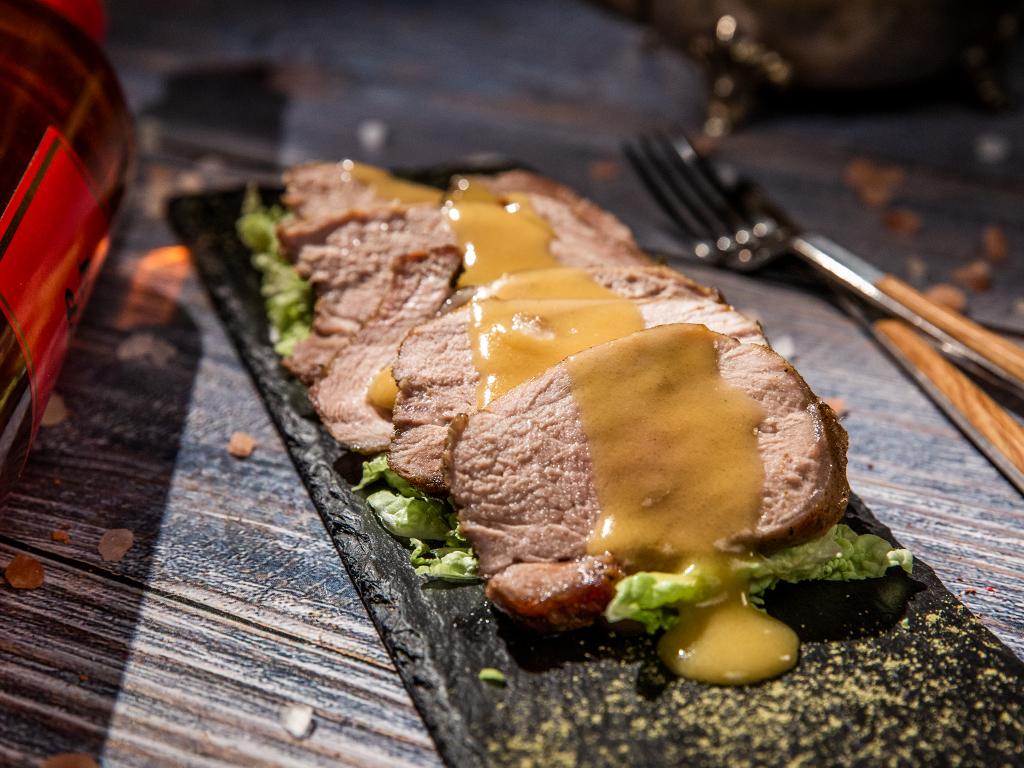 Roasted Pork Tenderloin with Wine-Mustard Sauce
