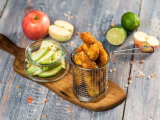 Chicken Fingers with Apple Salad