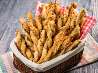 Caraway Cheese Puff Pastry Straws