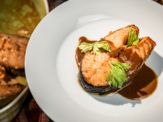 Roasted Ginger Salmon Steaks