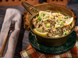 Brown Rice Salad with Almonds