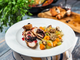 Turkey Breast Roulade with Mushrooms
