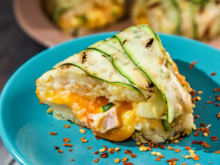 Zucchini and Rice Bundt Savory Cake