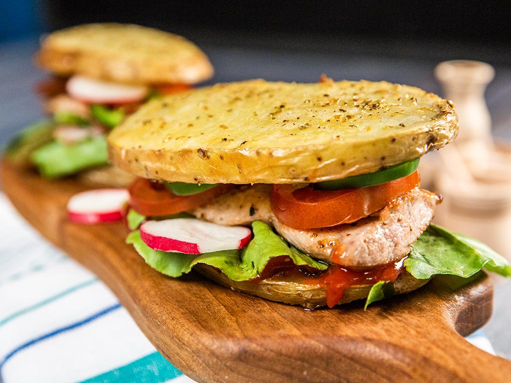 Pork Tenderloin and Potato Sandwiches