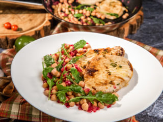 Marinated Pork Chops with Chickpea Salad
