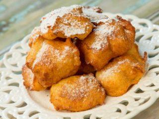 Lemon Vanilla Doughnut Puffs