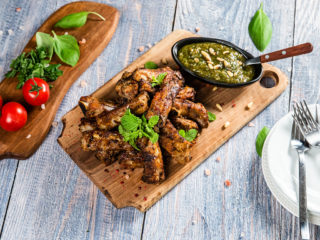 Pork Ribs with Homemade Pesto Sauce