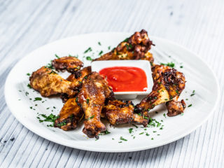 Honey and Mustard Roasted Chicken Wings