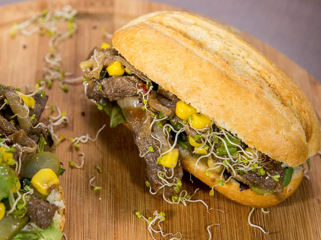 Hot and Spicy Lamb Sandwiches