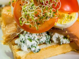 Egg and Salmon Sandwiches