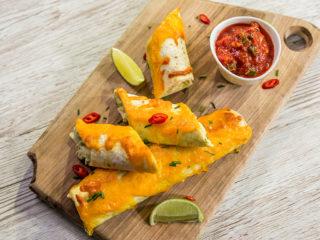 Baked Chicken Guacamole Tacos