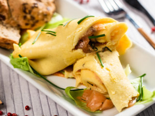 Marinated Salmon Omelet