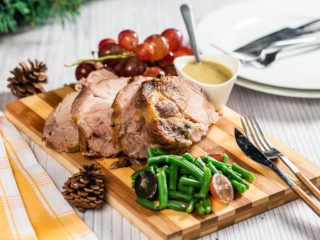 Roasted Pork Neck with Celery Root Sauce