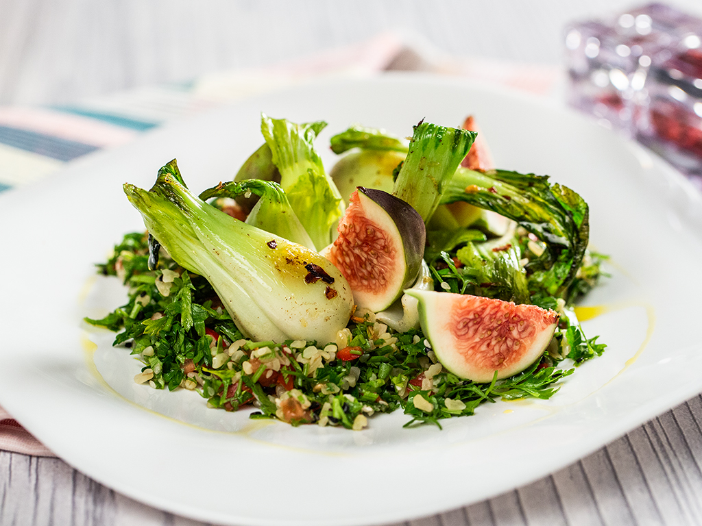 Tabbouleh, Bok Choy and Fig Salad