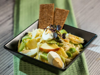 Celery Root, Apple and Egg Salad