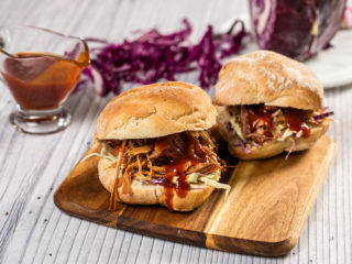 Pulled Pork and Coleslaw Burger