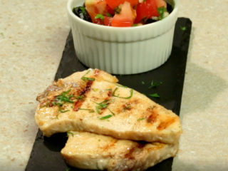 Grilled Swordfish With Mediterranean Salad