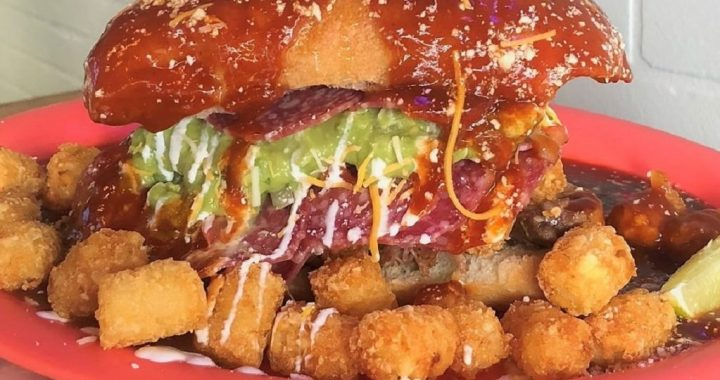 This Torta Goes Full Beast Mode With STACKS Of Salami And Tater Tots