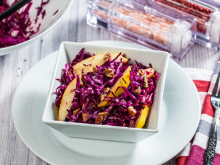 Quince and Red Cabbage Salad