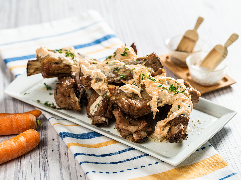 Beef Ribs with Creamy Carrot Sauce