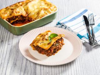 Mushroom and Beef Lasagna Casserole