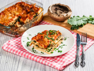 Kale and Portobello Lasagna
