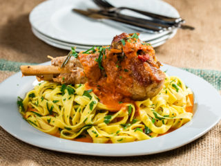 Turkey Tagliatelle with Herby Tomato Sauce