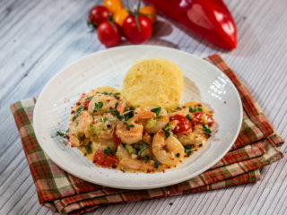 Shrimp Stew with Polenta