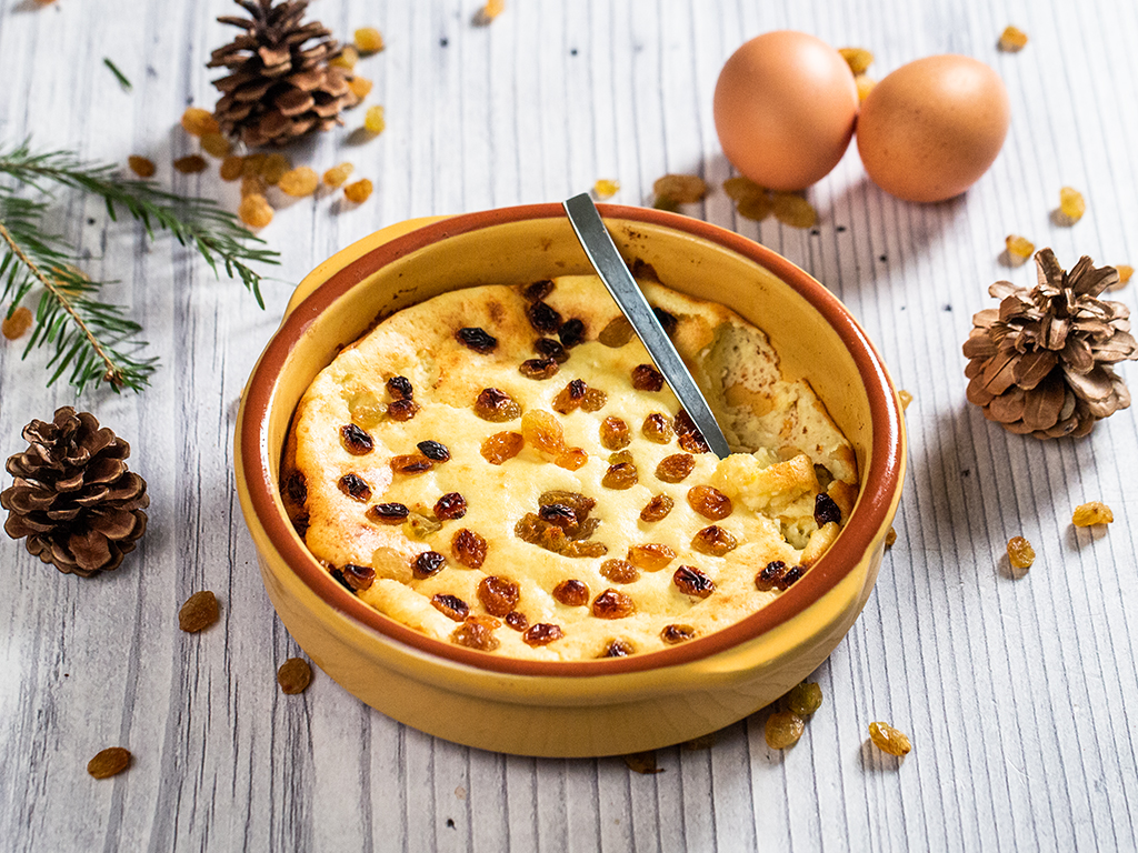 Cottage Cheese Souffle with Raisins