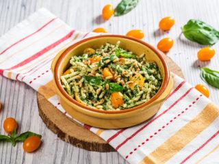 Trofie Pasta with Broccoli and Pine Nut Sauce