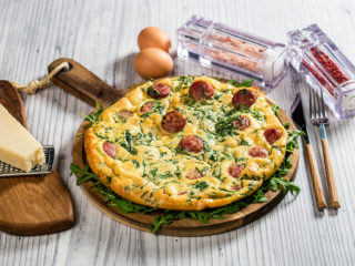 Frittata with Sausage and Arugula