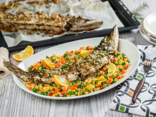 Almond and Parsley-Stuffed Pike