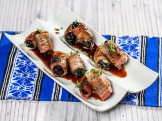 Bacon-Wrapped Cheesy Prunes