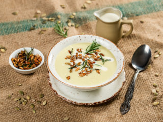 Nutty Leek and Potato Soup