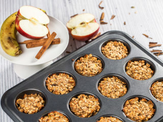 Apple and Banana Oatmeal Muffins