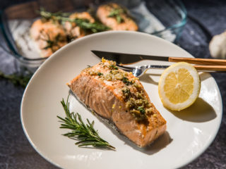 Garlic Herb Baked Salmon