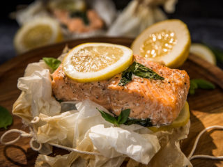 Parchment-Baked Salmon with Lemon and Basil
