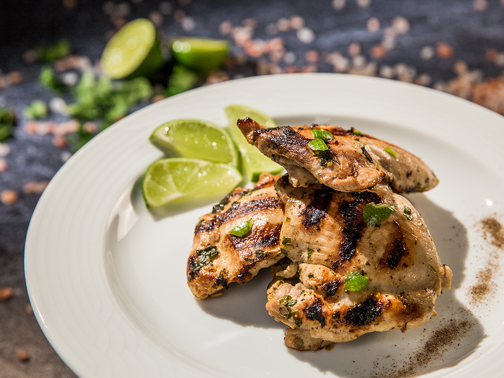 Grilled Chicken Thighs with Lemon and Garlic