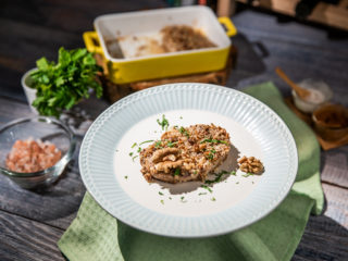 Walnut-Crusted Pork Chops