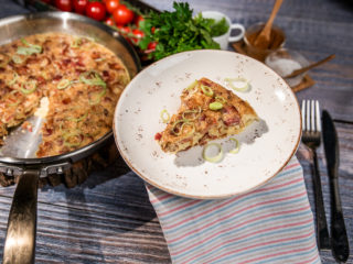 Bacon and Leek Frittata
